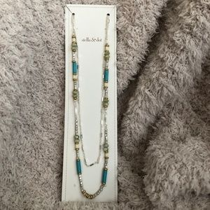 Stella & Dot Womens Turquoise Blue Costa Necklace